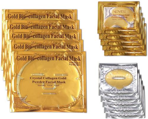24k Gold 5 Packs Bio-collagen Face Mask