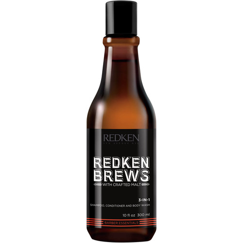 Redken Brews 3 in 1 Shampoo Conditioner and Body Wash-300ml