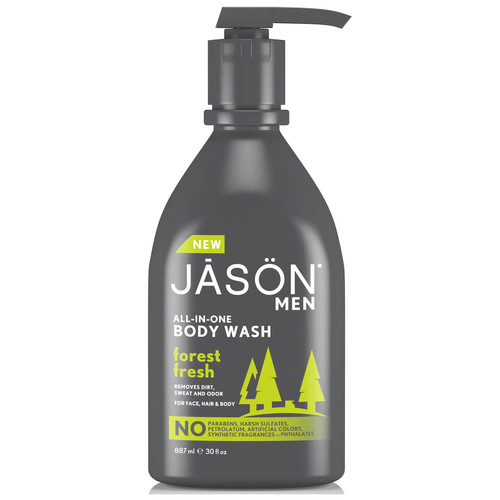 JASON Men's Body Wash Forest Fresh Pump Easy-to-Use