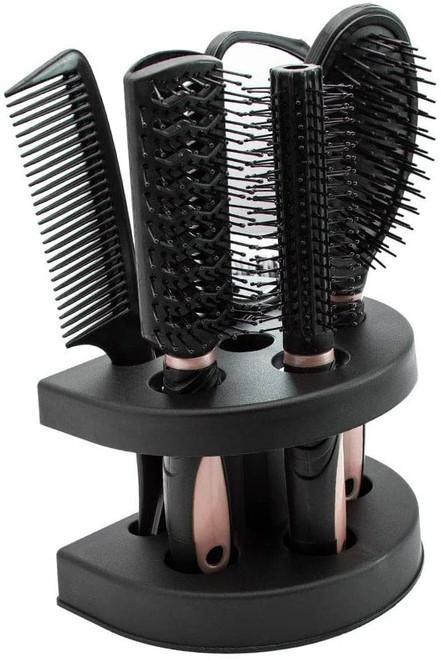 5pcs Hair Comb Set Women Ladies-Pink