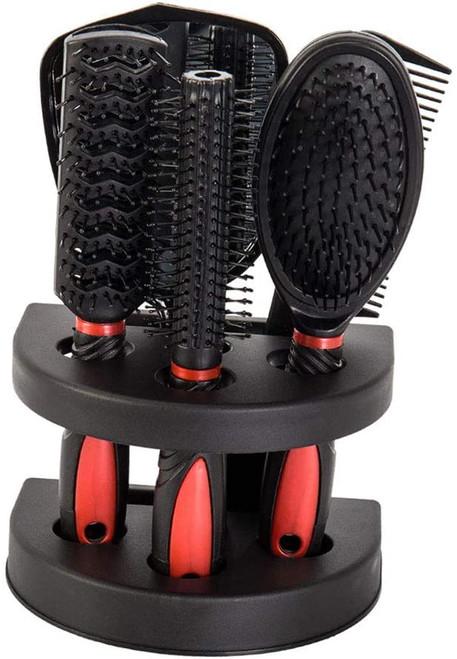 5pcs Hair Comb Set Women Ladies-Red