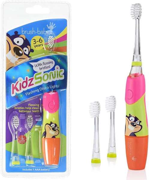 Brush-Baby Kids Electric Toothbrush With Flossing Bristles