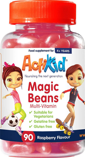 ActiKid Jelly Beans Raspberry Multivitamins