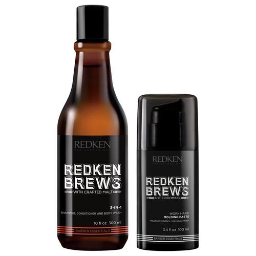 Redken Brews Men's Shampoo and Molding Paste Duo Gift Set