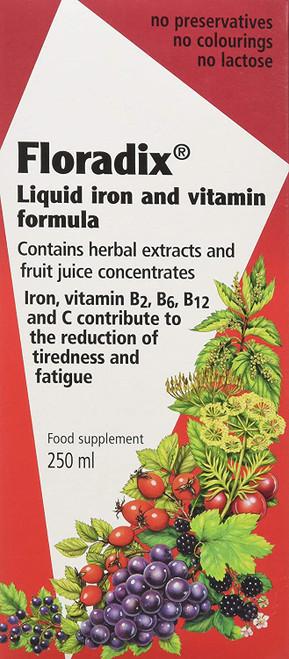 Floradix Herbal Extract Liquid Iron and Vitamin Formula - 250ml
