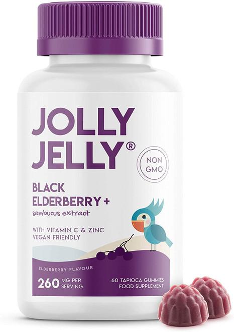 JOLLY JELLY Black Elderberry Fight Fatigue Gummies