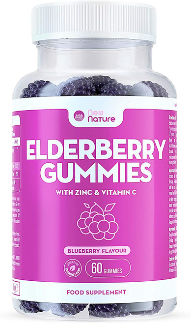 New Nature Blueberry Flavour Gummies with Zinc and Vitamin C