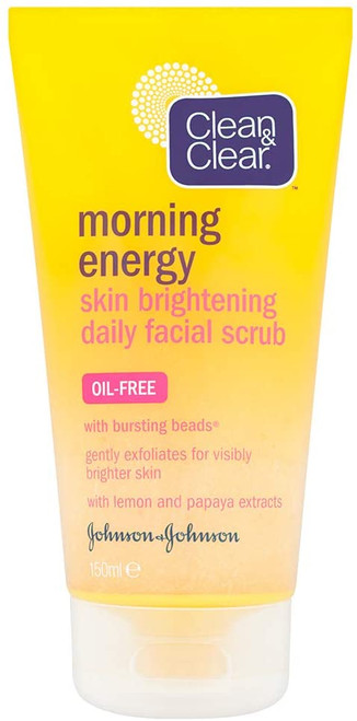 Clean and Clear Morning Energy Oil Free Facial Scrub - 150ml