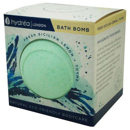 Hydrea London Uplifting Sicilian Lemon & Thyme Nourishing Bath Bomb-2 x 60g