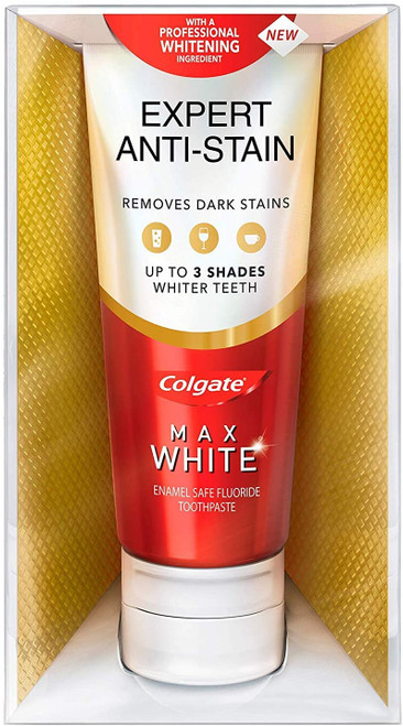 Colgate Max Whiter Smile Anti-Stain Fluoride Toothpaste - 75 ml