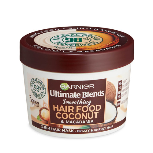 Garnier Ultimate Blends Hair 3-in-1 Frizzy Hair Mask Treatment-390ml