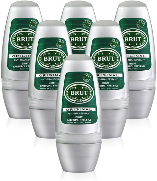 6x Brut ORIGINAL MENS Roll On Antiperspirant 50ml
