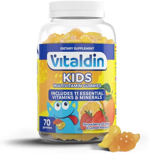 VITALDIN Kids Flavoured Multivitamin Gummies with 11 Essential Minerals