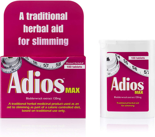 Adios Max Calorie Control Herbal Slimming Aid Tablets