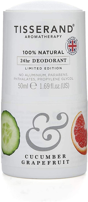 Tisserand AromatherapyDeodorant-Cucumber & Grapefruit