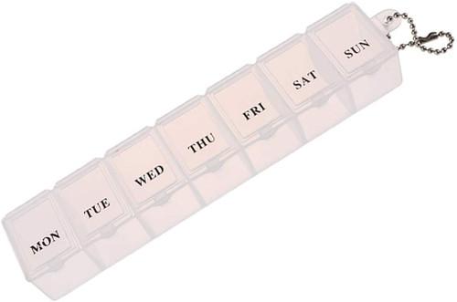 Syolee 7 Days Medicines Organiser Box - White
