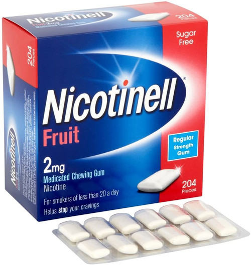 Nicotinell Fruit Medicated Chewing Gum