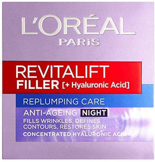 L'Oreal Revitalift Filler Hyaluronic Acid Anti-Ageing Night Cream-50 ml