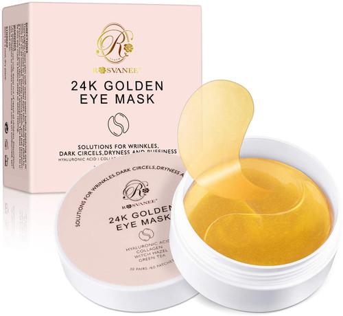 ROSVANEE Under Eye Patches 24K Golden Eye Mask