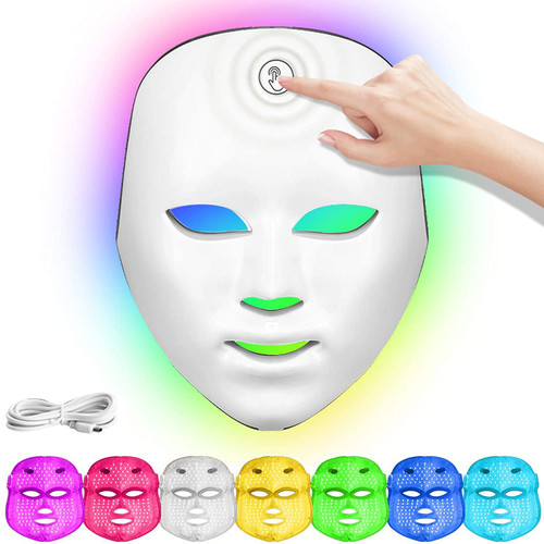 Light Therapy Mask 7 Color Wireless Led Face Mask
