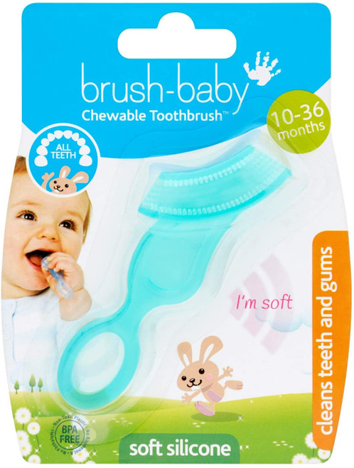 Brush-Baby Chewable Soft Finger Toothbrush