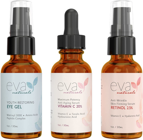 Eva Naturals Facelift in a Bottle - 3-in-1 Anti-Aging Set
