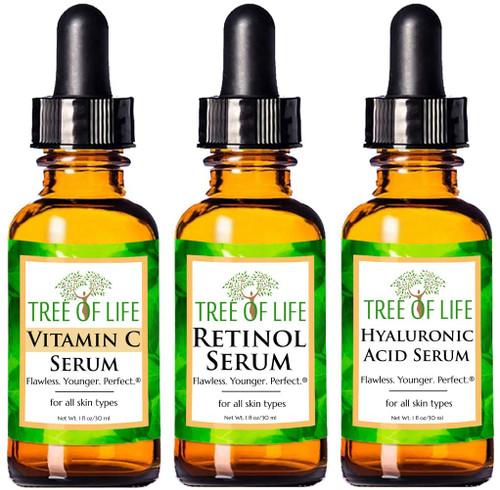 Anti Aging Serum 3-Pack for Face Serum