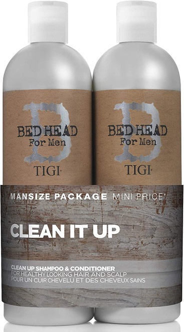 Bed Head Men Clean Up Daily Shampoo and Conditioner Bundle - 750 ml