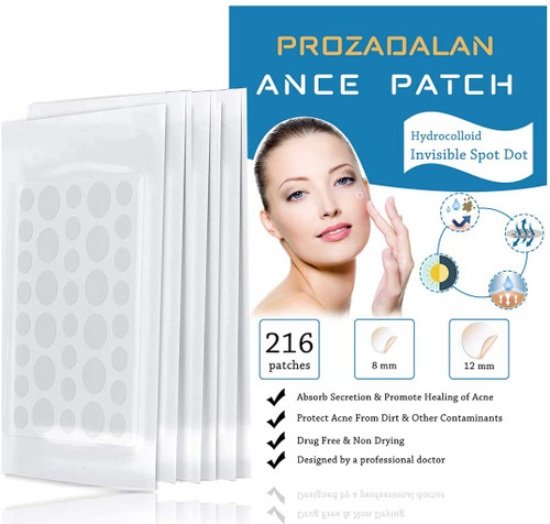 Acne Patches Invisible Hydrocolloid Absorbing Pimple Patches 216pcs