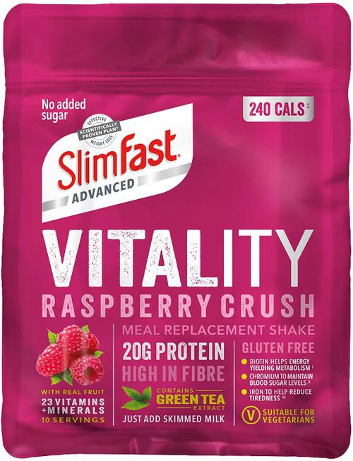 SlimFast Weight Loss Raspberry Powder Shake - 400g