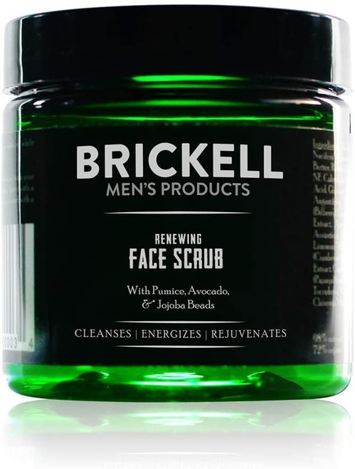 Brickell Men's Renewing Face Scrub for Men- 59 mL