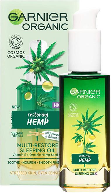 Garnier Organic Hemp Multi-Restore Facial Night Sleeping Oil-30 ml