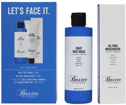 Baxter of California Let's Face It Men's Skincare Grooming Kit