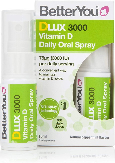 Better You Dlux Vitamin D Daily Oral Spray - Pack of 4