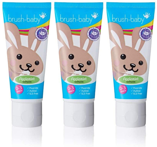 Brush-Baby Applemint Newborn Babies Toothpaste - Pack of 3