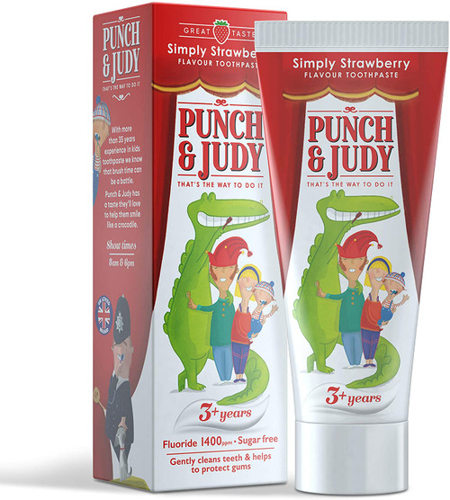 Punch and Judy Strawberry Flavour Gentle Taste Toothpaste