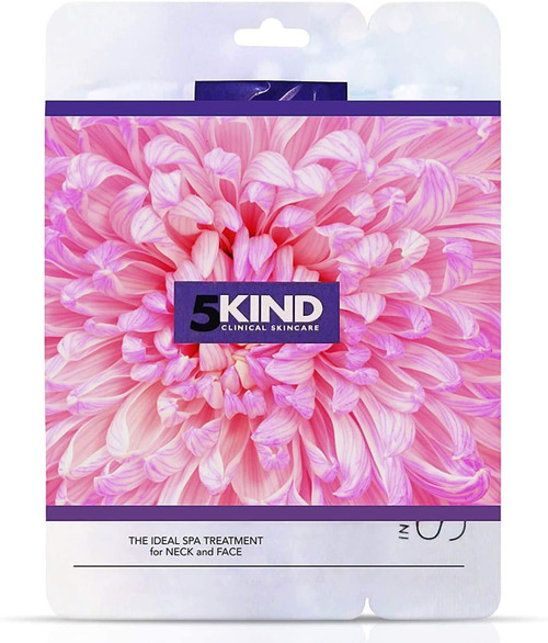 5Kind Anti-Ageing Collagen Face Mask Neck Sheet Pack of 3