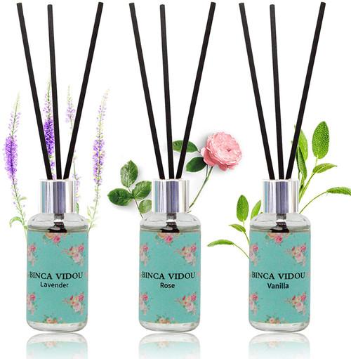Binca vidou French Lavender Rose And Vanilla Reed Diffuser - Set of 3