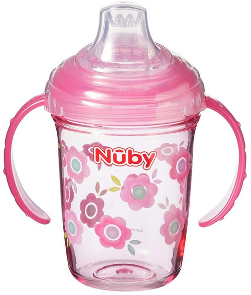 Nuby Tritan Grip N Sip Sippy Soft Silicone Baby Cup for 4 Months - 240 ml