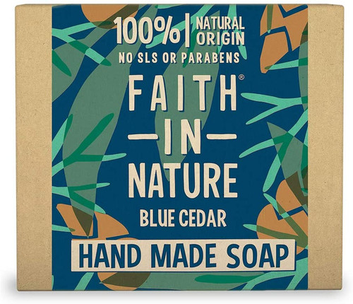 Faith in NatureHand Soap Bar-Blue Cedar