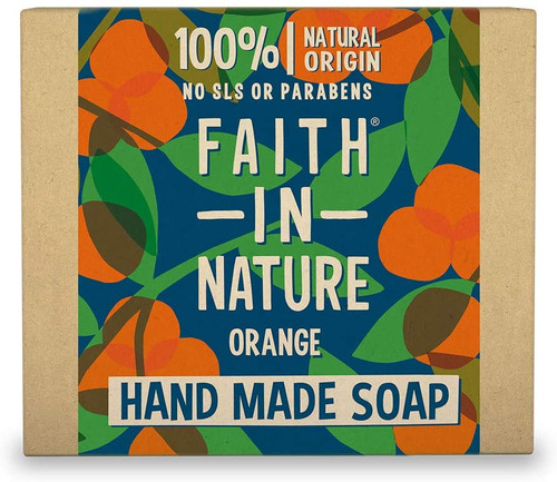 Faith in NatureHand Soap Bar-Orange
