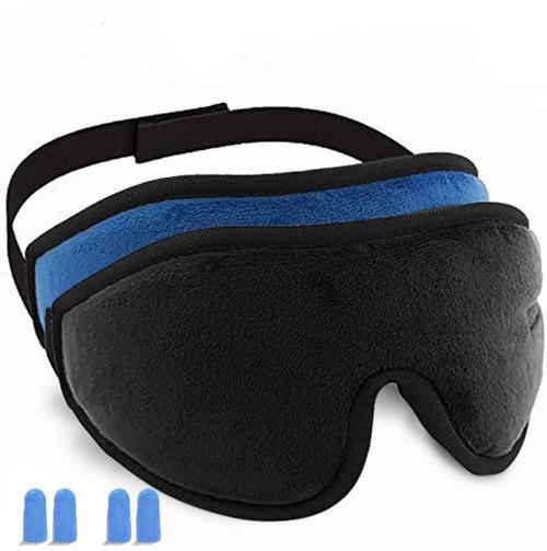 3D Contoured Cup Super Soft Sleep Mask - 2 Pack