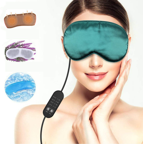 Aceoce Heated and Cooling 2 in 1 Silk Eye Mask
