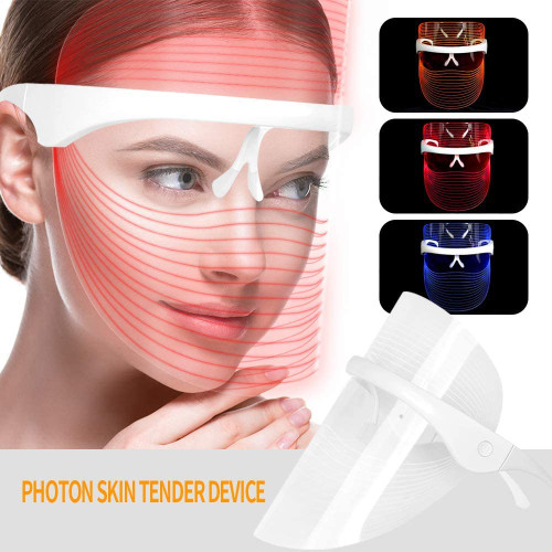 3 Colors LED Light Therapy Acne Treatment Mask