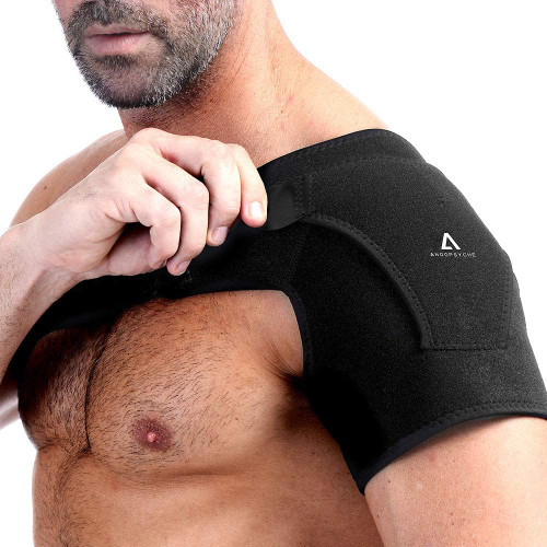 Anoopsyche Adjustable Right and Left Neoprene Shoulder Support Brace