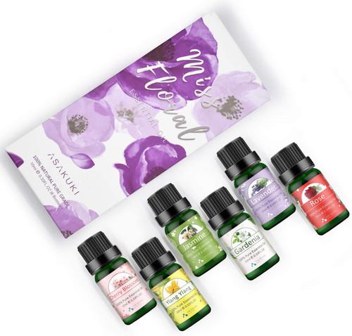 ASAKUKI Exquisite Floral Aroma Essential Oils Gift Set