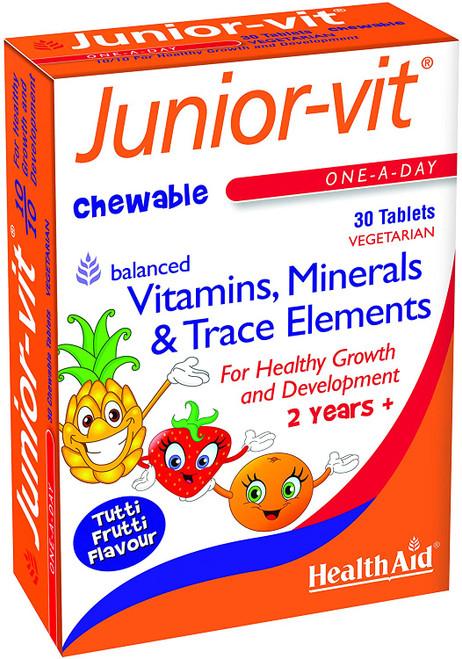 HealthAid Junior-Vit Chewable Essential Nutrients Multivitamins - 30 Tablets