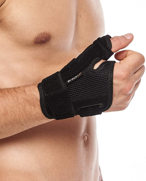 BraceUP Adjustable Thumb Support Brace and Splint for Spica