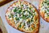 Roasted Garlic, Chicken & Herb Flatbread Pizza - (Free Recipe below)
