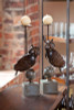 2 Metal Owl Candle Holders